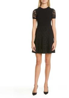 Valentino Lace Detail Sweater Minidress