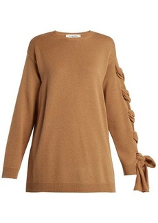Valentino Laced cashmere sweater