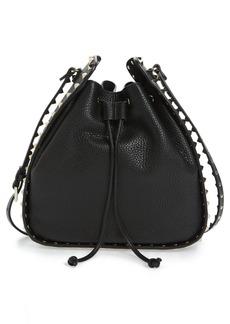 Valentino Large Rockstud Leather Bucket Bag