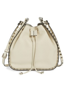 VALENTINO GARAVANI Large Rockstud Leather Bucket Bag