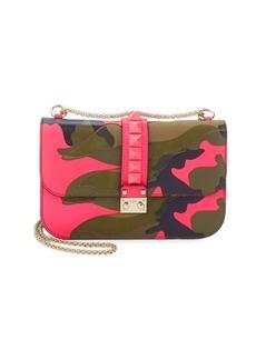 VALENTINO GARAVANI Leather Camouflage Shoulder Bag
