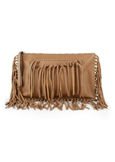 VALENTINO GARAVANI Leather Fringe Clutch Bag