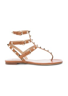Valentino Leather Rockstud Gladiator Sandals
