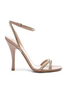 Valentino Leather Rockstud No Limit Ankle Strap Sandals