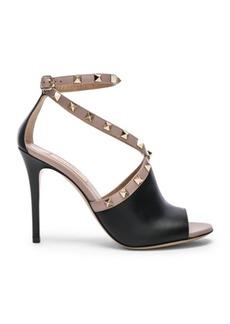Valentino Leather Rockstud Open Toe Heels