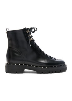Valentino Leather Soul Rockstud Combat Boots