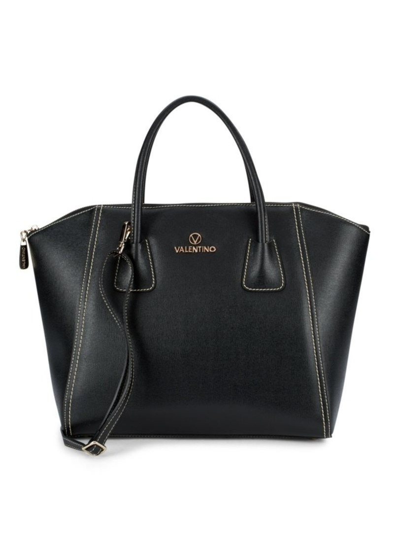 Valentino by Mario Valentino Gigi Leather Top Zipper Handbag