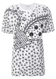 Valentino leopard and star print T-shirt