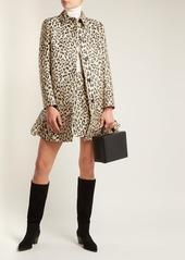 14982726bb5 Valentino Leopard-print brocade coat Valentino Leopard-print brocade coat  ...