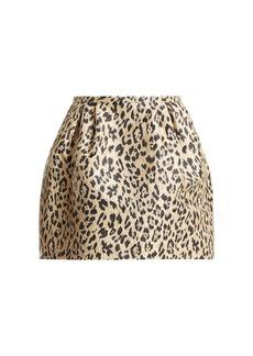 Valentino Leopard-print brocade skirt
