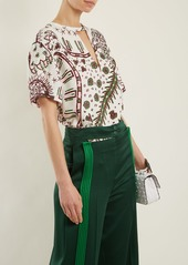 Valentino Leopard-print cady top