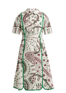 Valentino Leopard-print cotton-poplin dress