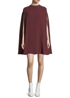 Valentino Light Cady Cape Dress