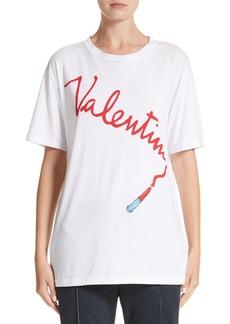 Valentino Lipstick Print Tee