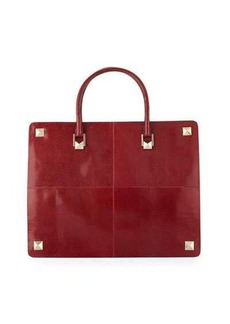 Valentino Garavani Lizard-Embossed Large Tote Bag