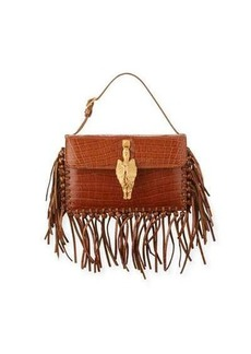 Valentino Lizard Fringe Small Tote Bag