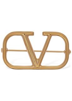Valentino Logo Brooch
