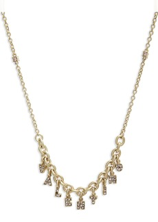 Valentino Logo Charm Necklace