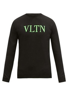 Valentino Logo-jacquard cotton-blend sweater
