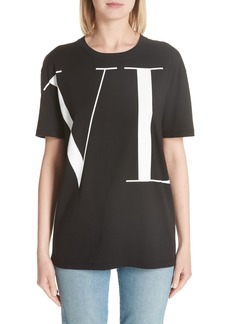 Valentino Logo Letters Tee