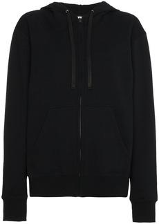 Valentino Logo Patch Hooded Jacket - Black