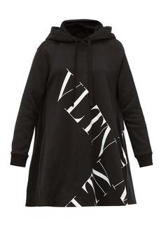Valentino Logo-print cotton-jersey hooded sweatshirt