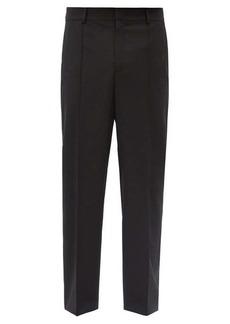 Valentino Logo-print side-stripe straight-leg trousers