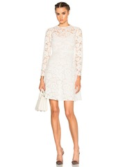 Valentino Long Sleeve Lace Dress