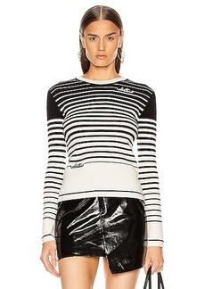 Valentino Long Sleeve Striped Sweater