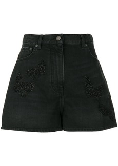 Valentino loose fit denim shorts - Black