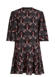 Valentino Love Blade-print mini silk dress