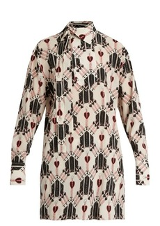 Valentino Love Blade-print silk blouse