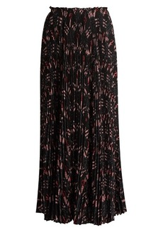 Valentino Love Blade-print silk-chiffon midi skirt