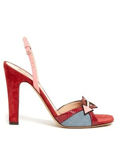 Valentino Love Blade suede and leather sandals