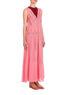 Valentino Love Blades Embroidered Dress