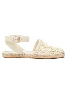 Valentino Macramé and leather espadrilles