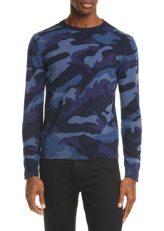 Valentino Maglia Camo Cashmere Sweater