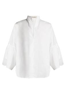 Valentino Mandarin-collar wide-sleeve cotton-poplin shirt