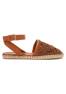 Valentino Marrakech macramé and leather espadrilles