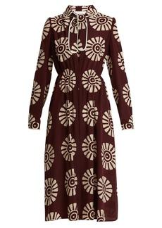 Valentino Medallion-print silk dress