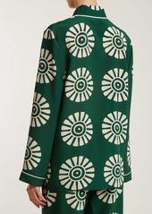 Valentino Medallion-print silk pyjama shirt