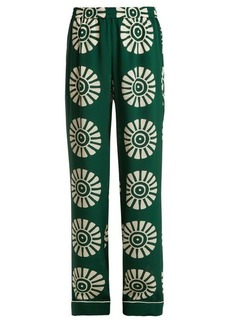 Valentino Medallion-print silk pyjama trousers
