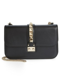 Valentino 'Medium Lock' Studded Leather Shoulder Bag