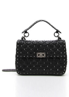 Valentino 'Medium Rockstud' Quilted Lambskin Shoulder Bag
