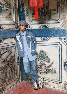 Valentino Men's Loose-Fit Cuffed-Hem Jeans