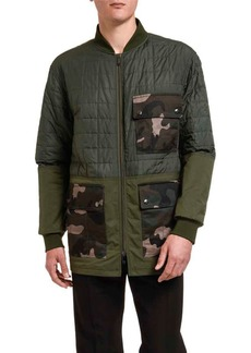 Valentino Men's Quilted Barn Coat w/ Camo Pockets