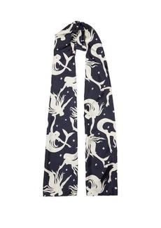 Valentino Garavani Mermaid-print silk head scarf