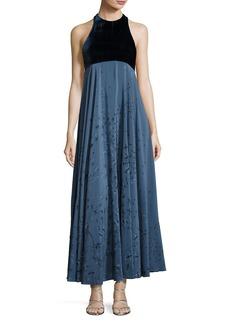 Metamorphosis Velvet Sleeveless Gown