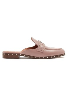 Valentino Micro Rockstud leather backless loafers