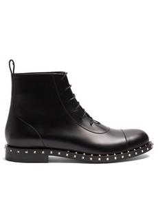 Valentino Micro Rockstud leather boots